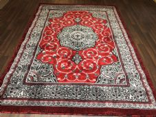 Modern Rugs Approx 7x5 150x210cm Woven Design Sale Top Quality Red/Grey Stunning